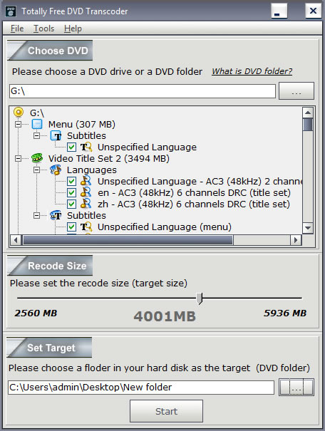 Totally Free DVD Transcoder - dvd transcode, dvd copy, dvd copier, dvd backup, dvd shrink - Totally Free DVD Transcoder is a high quality, high speed DVD video transcoder.